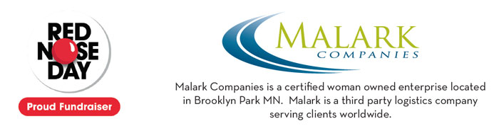 Malark Companies in Mpls MN teams up with Red Nose Day banner